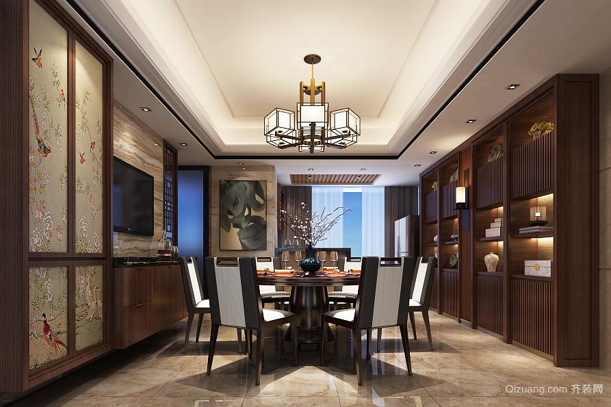 新中式风格餐厅吊灯设计装修效果图图片