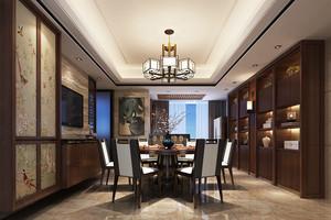 新中式风格餐厅吊灯设计装修效果图