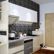 现代简约风格小户型开放式厨房设计装修效果图