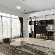 现代简约风格两居室室内客厅组合电视柜装修效果图