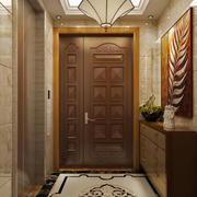 复古欧式风格进门玄关鞋柜设计装修效果图赏析