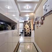 现代简约风格三居室室内玄关照片墙装修效果图