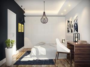 56平米现代简约风格小公寓装修效果图