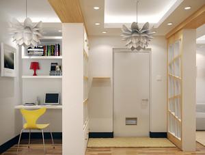 70平米现代简约风格一居室室内装修效果图