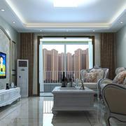 欧式风格大户型室内客厅设计装修效果图