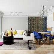 30平米后现代简约风格客厅设计装修效果图