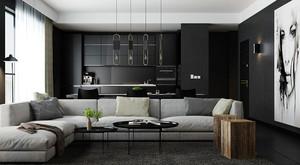 后现代风格开放式厨房设计装修效果图