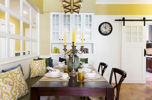 165平米美式田园风格三室两厅两卫室内装修效果图