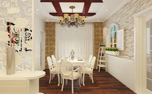 90平米欧式田园风格两室两厅设计装修效果图