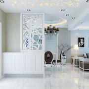 简欧风格两居室室内玄关隔断设计装修效果图