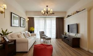 欧式田园风格两室两厅一卫室内装修效果图