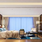36平米现代中式风格卧室背景墙装修效果图赏析