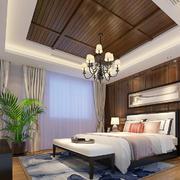 东南亚风格室内卧室吊顶设计装修效果图赏析