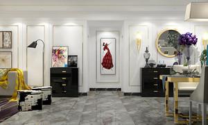 90平米简欧风格两居室室内装修效果图
