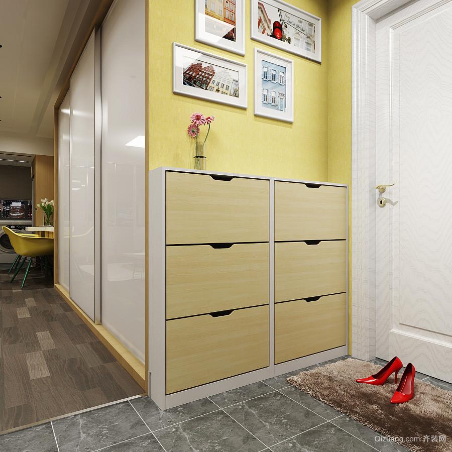 现代简约风格玄关鞋柜设计装修效果图赏析