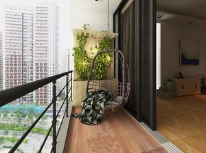 现代简约大户型室内阳台装修效果图赏析
