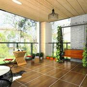 农村别墅室内阳台花园设计装修效果图