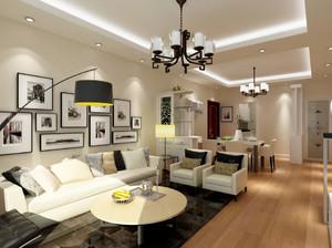 现代简约风格小户型客厅照片墙装修效果图赏析