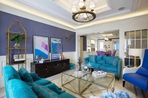 地中海风格两室两厅一卫室内装修效果图