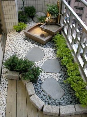中式简约风格小跃层入户花园装修效果图