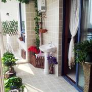 唯美地中海风格大户型入户花园装修效果图
