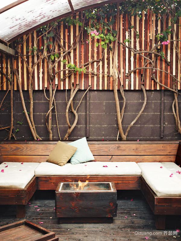中式别墅奢华大气入户花园装修效果图