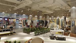 90平米现代简约风格服装店面装修效果图赏析