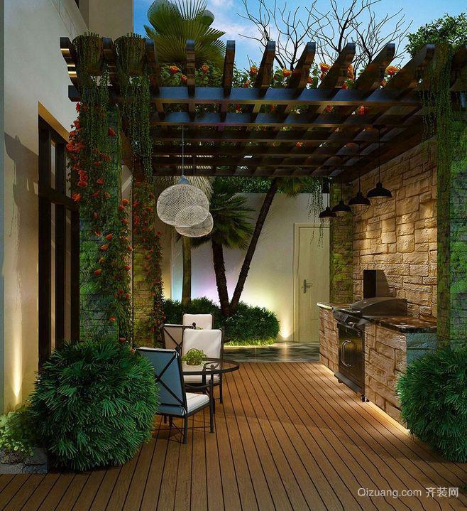 大户型时尚风格入户花园装修效果图