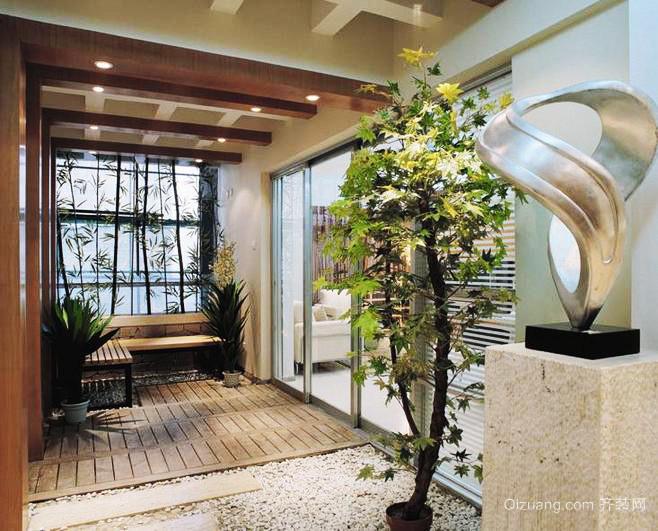 88平米美式大户型入户花园装修效果图