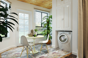 86平米宜家简约自然风格一室一厅一卫装修效果图