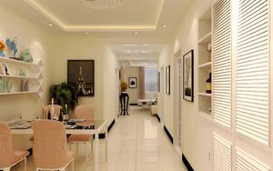 16平米现代简约风格餐厅设计装修效果图