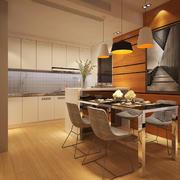 后现代简约风格厨房餐厅隔断效果图