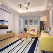 简欧风格小户型室内客厅沙发设计效果图