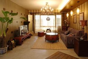 东南亚风格两室两厅一厨一卫装修效果图