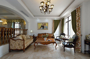 200平米古典欧式风格别墅室内装修效果图