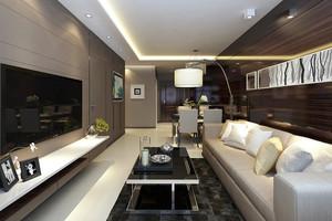 现代中式风格三室两厅精装修效果图赏析