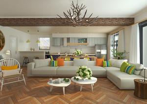 148平米现代简约风格复式楼室内装修效果图赏析