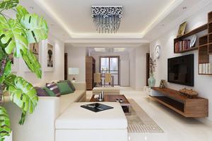 现代简约中式风格小户型家居装修效果图