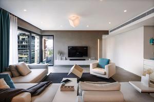 清新舒适现代简约风格三室两厅一卫装修效果图