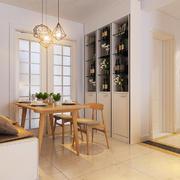日式简约风格室内餐厅酒柜设计装修效果图