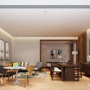 东南亚简约风格大户型室内客厅设计效果图