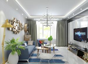 现代简约风格小户型客厅创意照片墙装修效果图