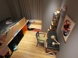 76平米日式简约风格两室两厅一卫装修效果图赏析