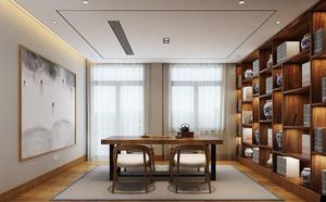 20平米现代中式风格书房装修效果图赏析