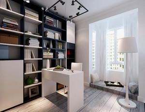 8平米现代简约风格小书房装修效果图