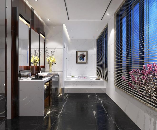12平米现代风格卫生间设计效果图