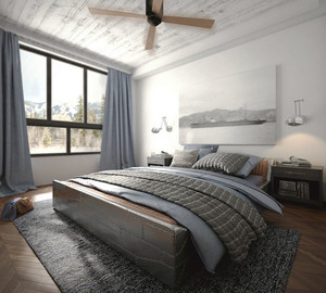 后现代极简主义风格男生卧室装修效果图