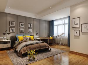 30平米后现代简约风格卧室背景墙装修效果图