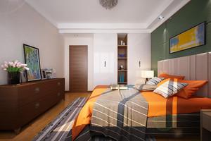 现代简约风格大户型室内卧室入墙式衣柜装修效果图