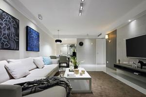 145平米现代简约风格三室两厅装修效果图赏析
